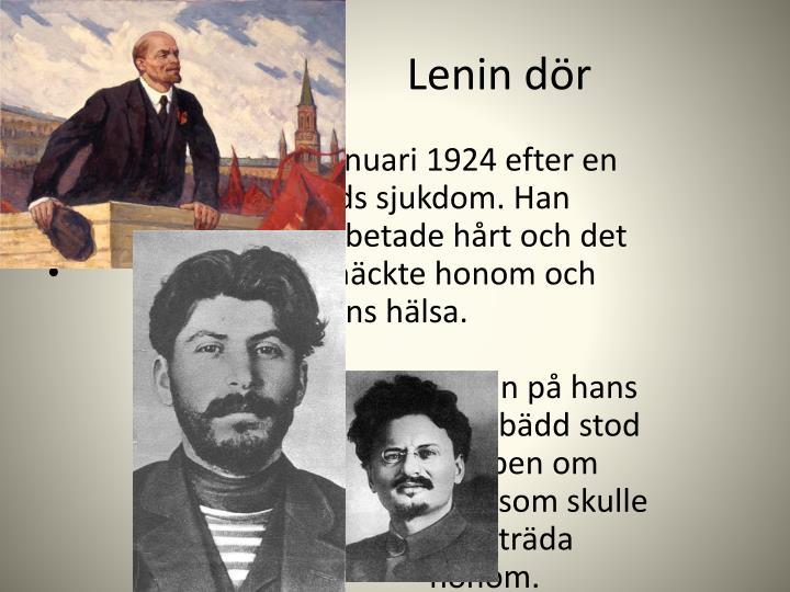 Lenin dör