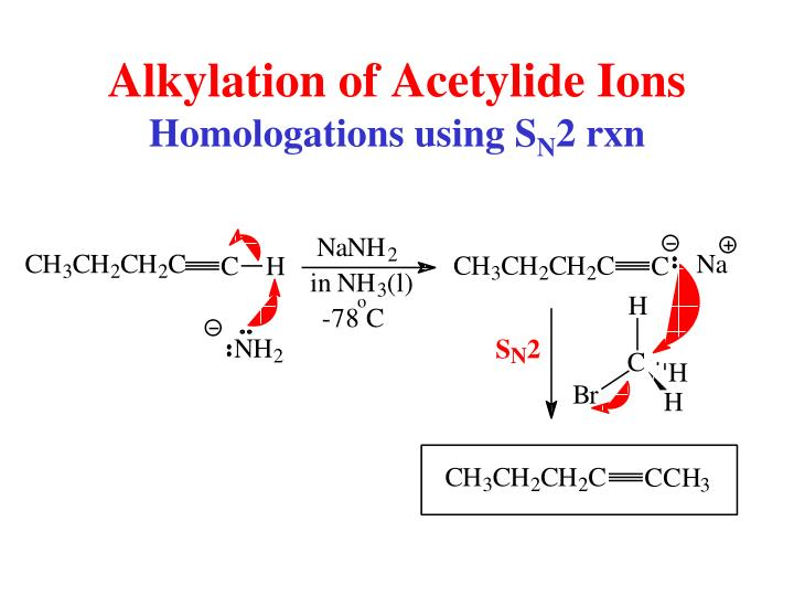 Alkylation of Acetylide Ions