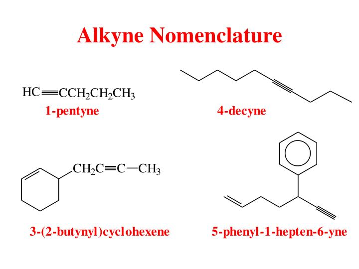 Alkyne Nomenclature