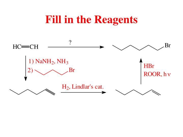 Fill in the Reagents