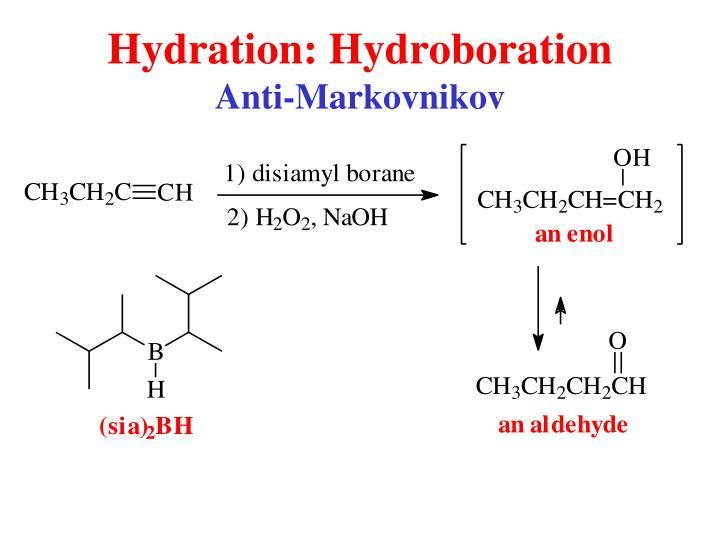 Hydration: Hydroboration