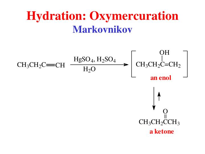 Hydration: Oxymercuration