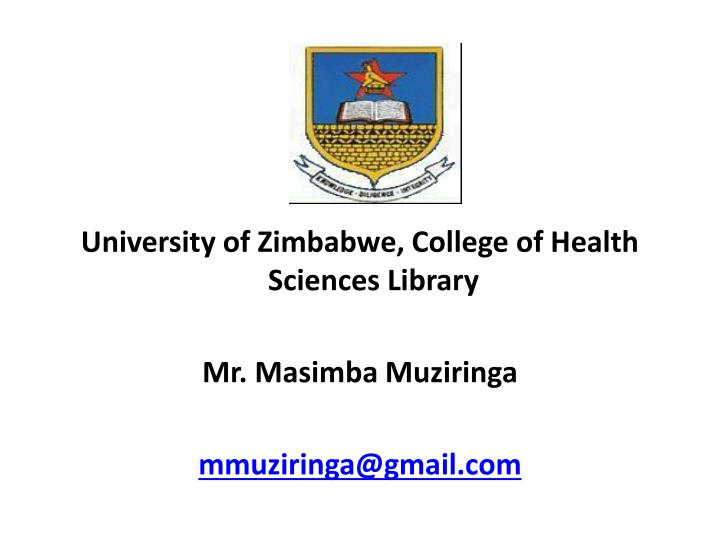 University of Zimbabwe, College of Health Sciences Library