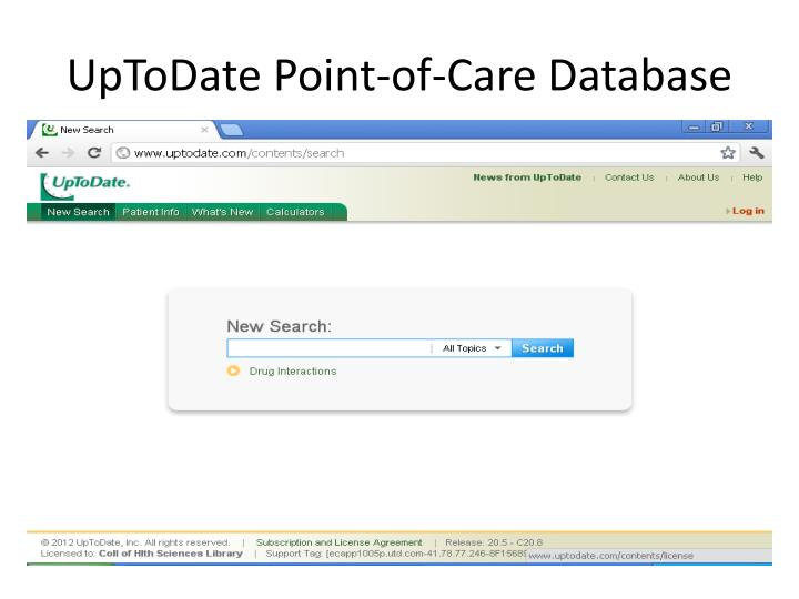 UpToDate Point-of-Care Database