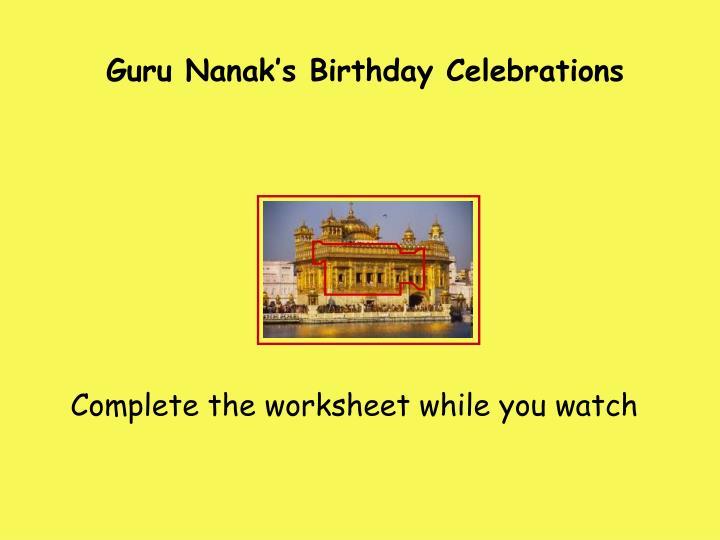 Guru Nanak's Birthday Celebrations