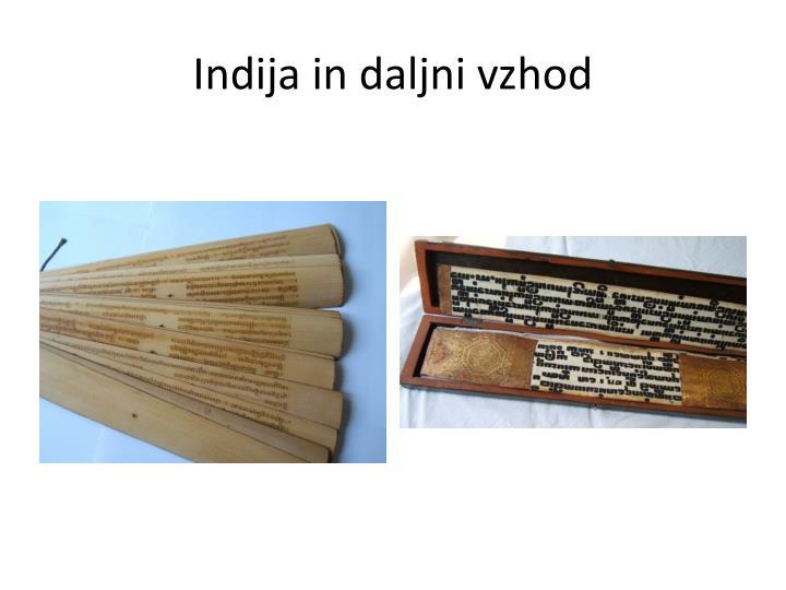 Indija in daljni vzhod