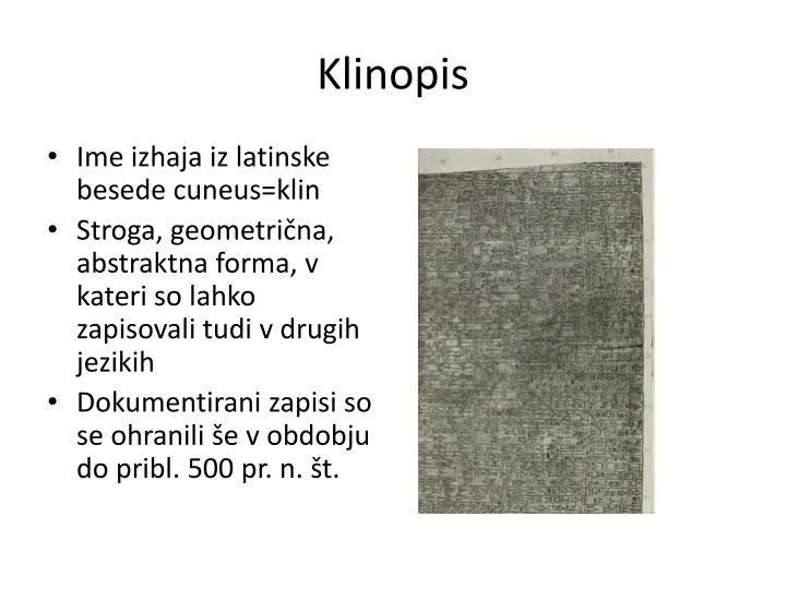 Klinopis