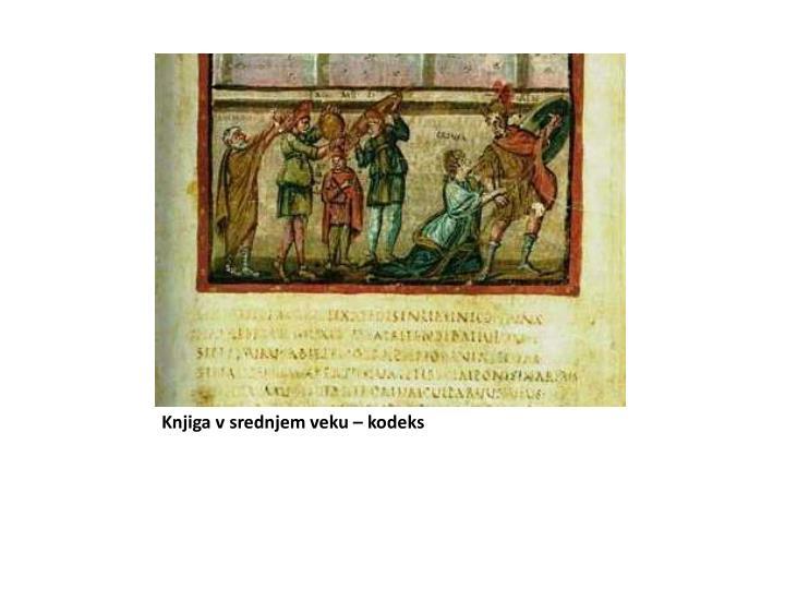 Knjiga v srednjem veku – kodeks