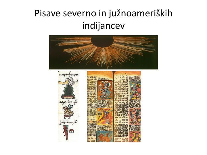 Pisave severno in južnoameriških