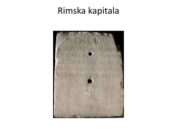 Rimska kapitala