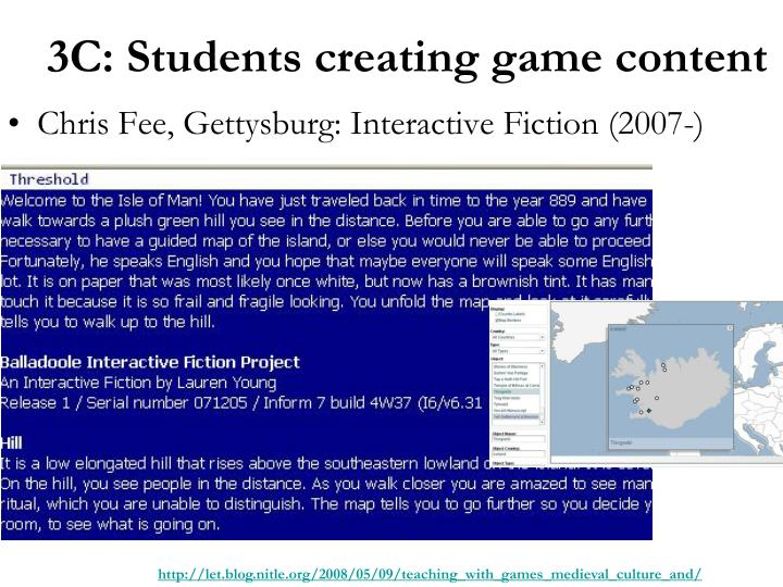Chris Fee, Gettysburg: Interactive Fiction (2007-)