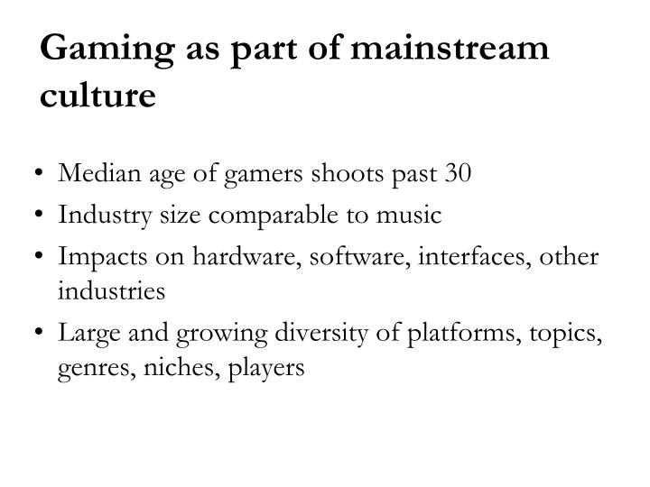 Median age of gamers shoots past 30