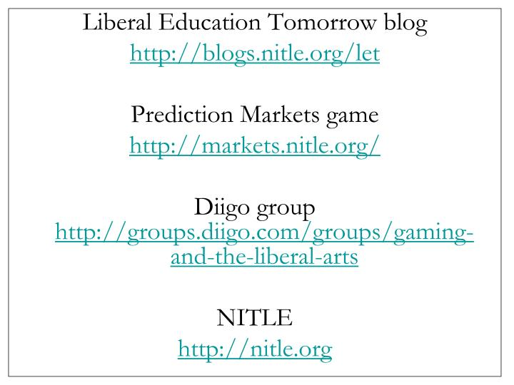 Liberal Education Tomorrow blog