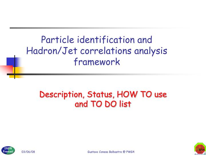 Particle identification and hadron jet correlations analysis framework
