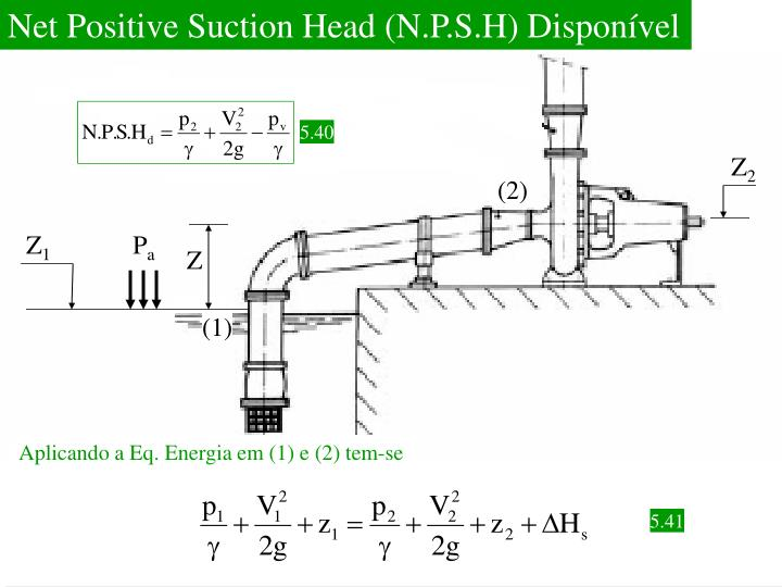Net Positive Suction Head (N.P.S.H) Disponível