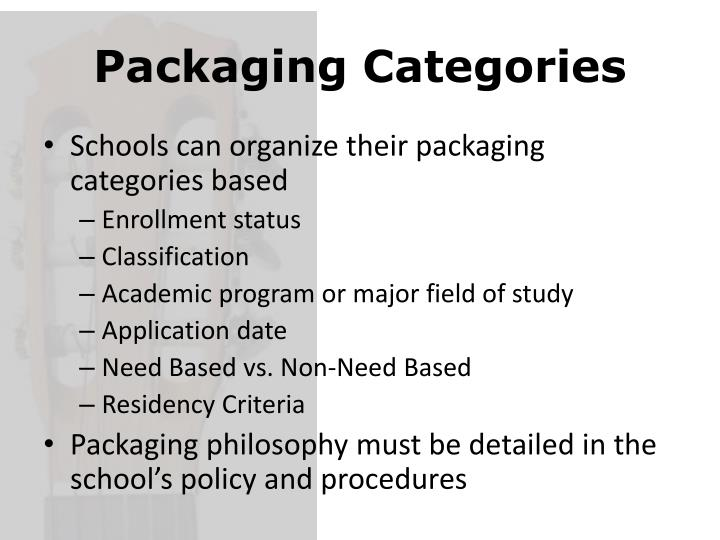 Packaging Categories