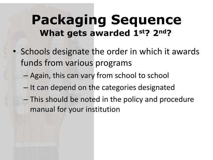 Packaging Sequence