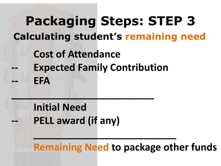 Packaging Steps: STEP 3