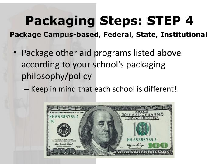 Packaging Steps: STEP 4