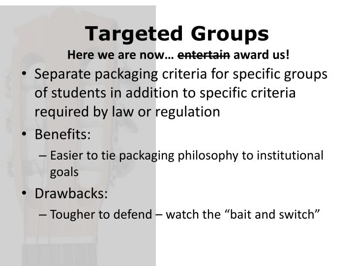 Targeted Groups