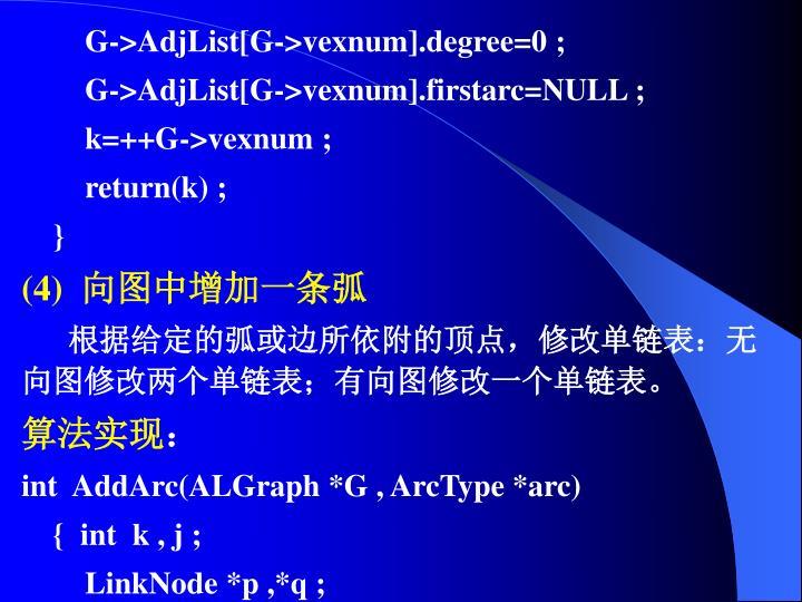 G->AdjList[G->vexnum].degree=0 ;