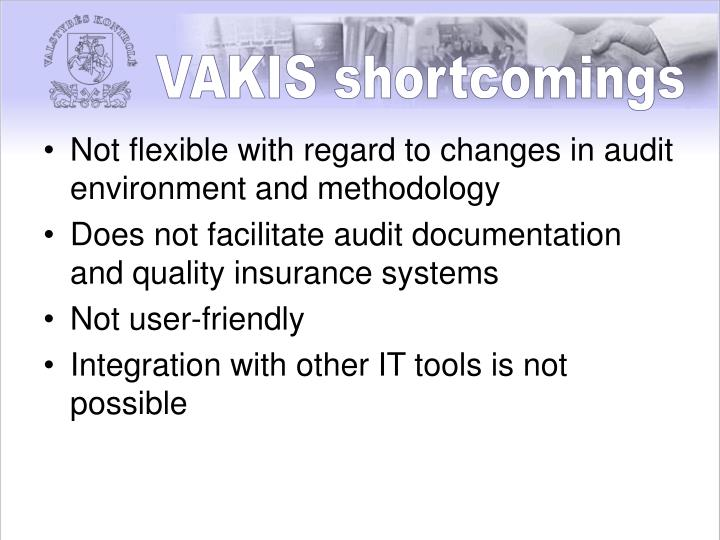 VAKIS shortcomings