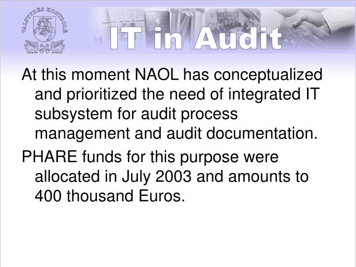 IT in Audit