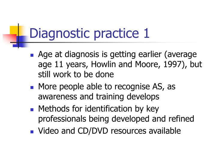Diagnostic practice 1