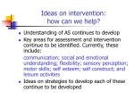 ideas on intervention how can we help
