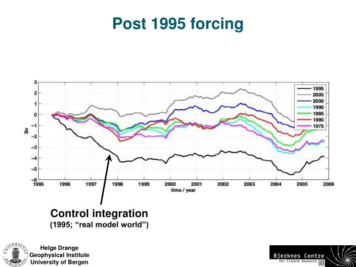 Post 1995 forcing