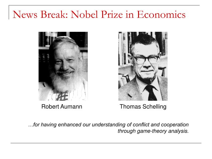 News break nobel prize in economics
