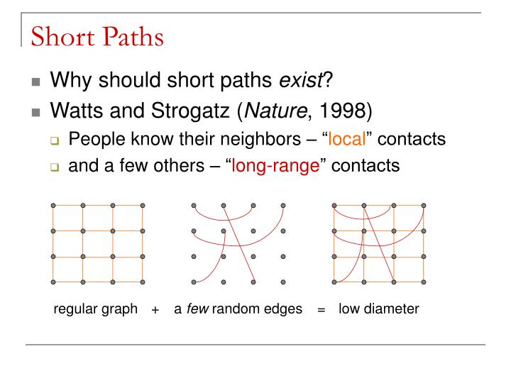 Short Paths