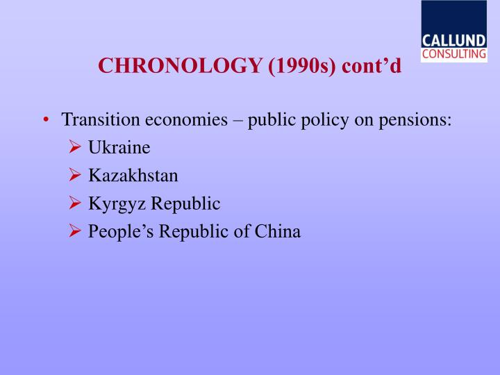 CHRONOLOGY (1990s) cont'd