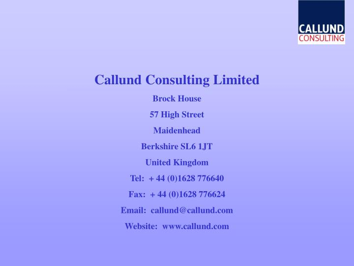 Callund Consulting Limited