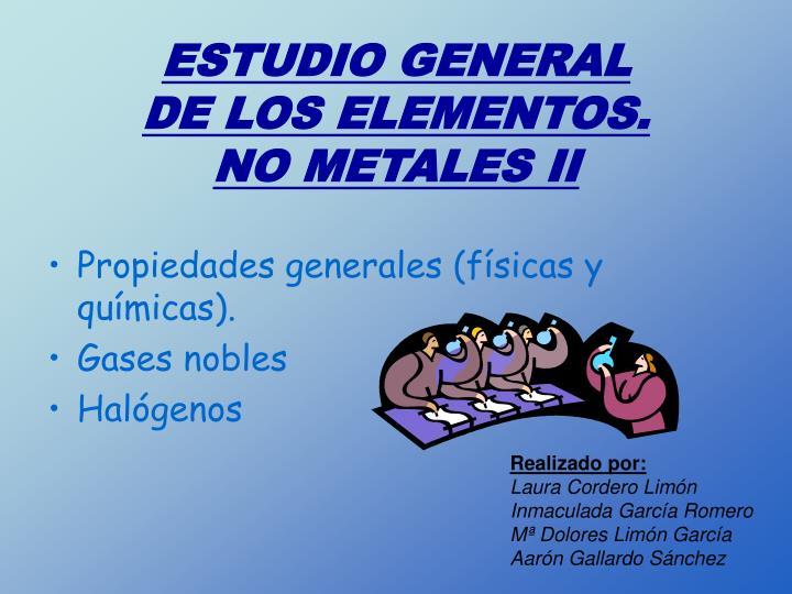 ESTUDIO GENERAL