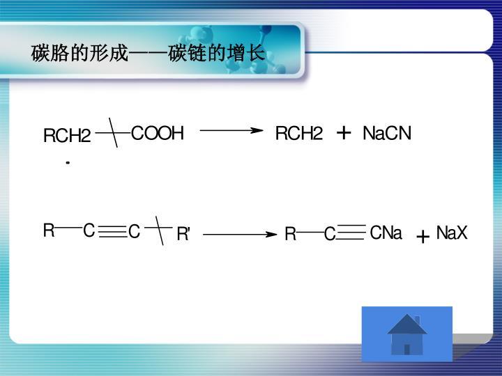 碳胳的形成