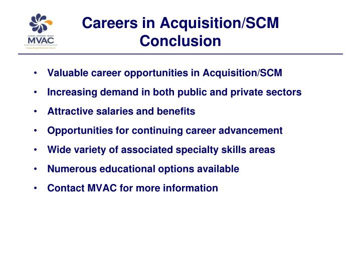 Careers in Acquisition/SCM
