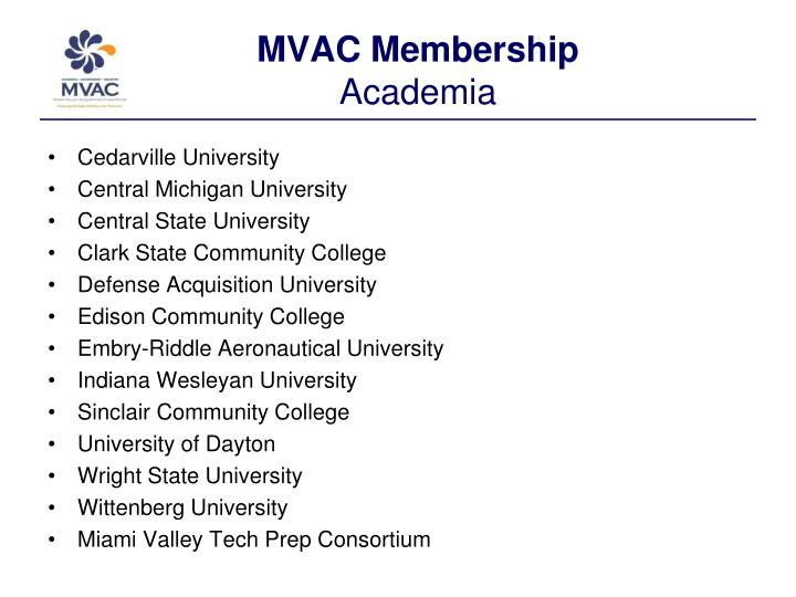 MVAC Membership