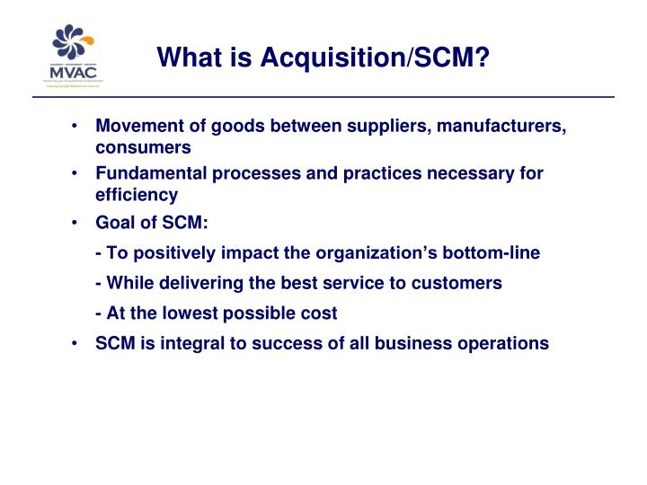What is acquisition scm