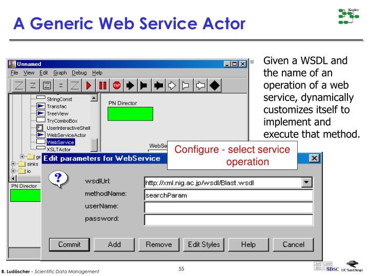 Configure - select service