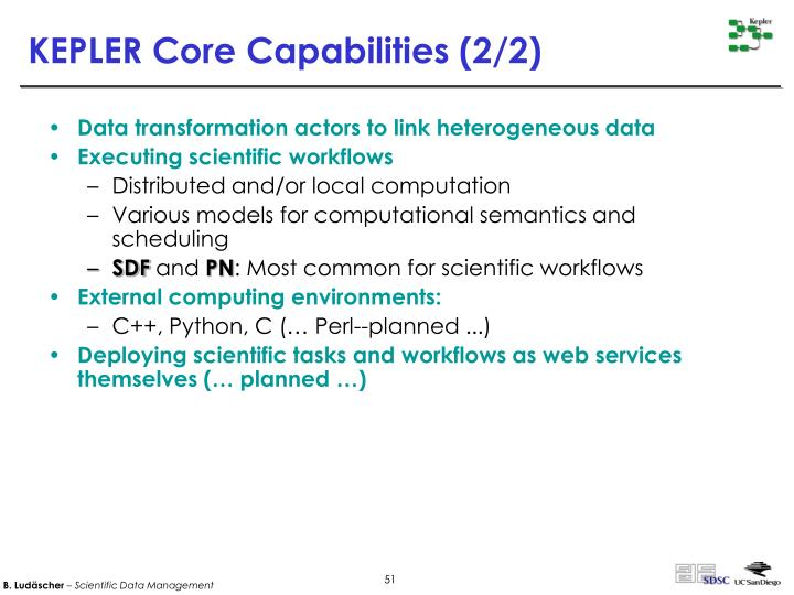 KEPLER Core Capabilities (2/2)