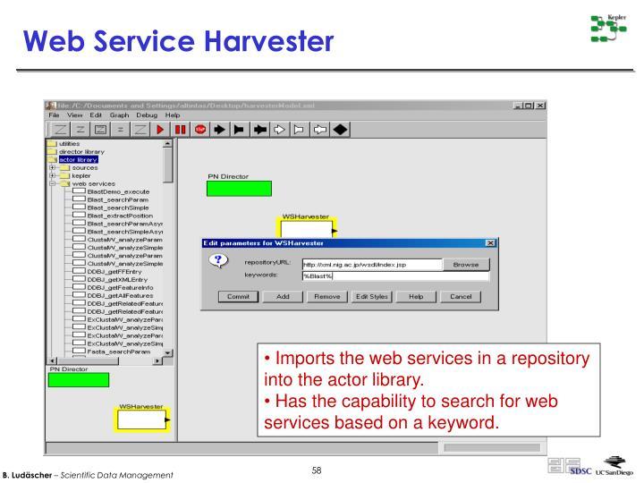 Web Service Harvester