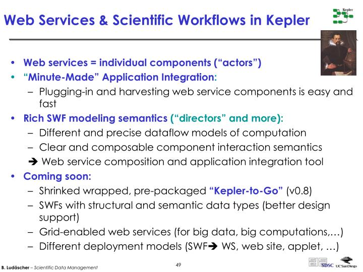 Web Services & Scientific Workflows in Kepler