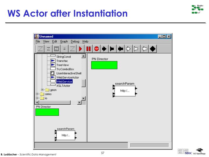 WS Actor after Instantiation