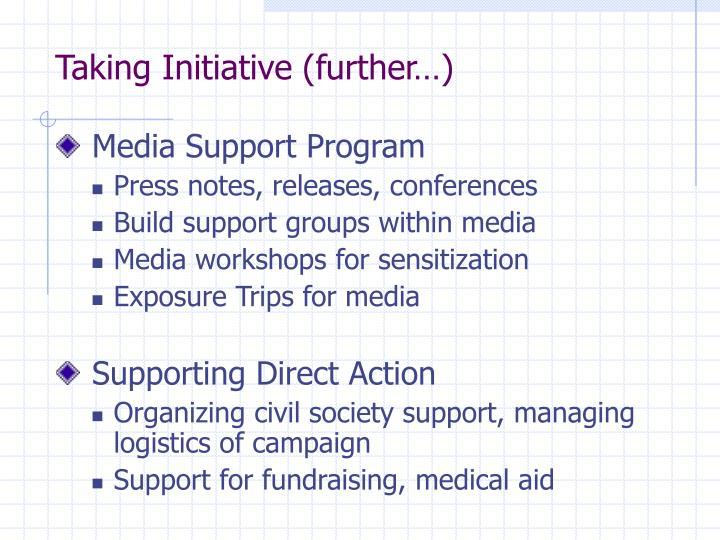 Taking Initiative (further…)