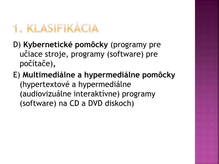 1. klasifikácia