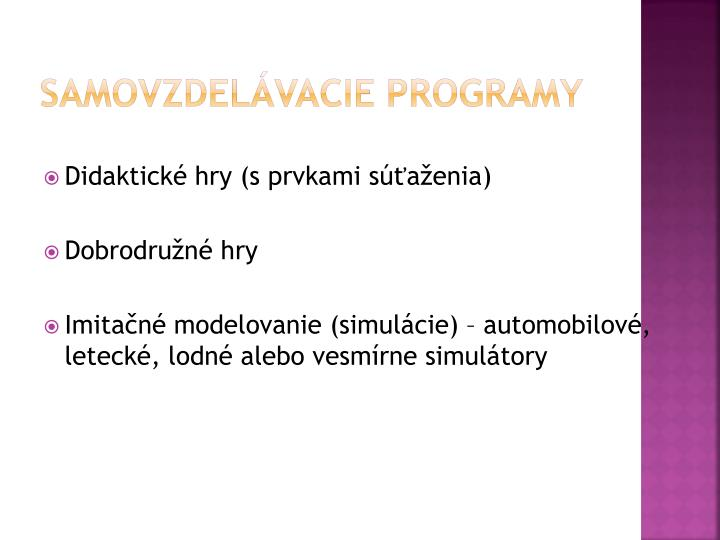 Samovzdelávacie programy