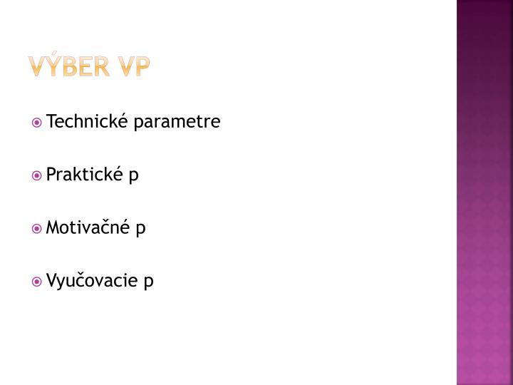 Výber VP
