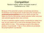 competition random mating random encounter model of cockerham et al 19721