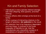 kin and family selection